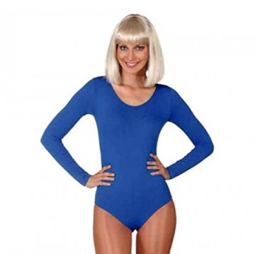 a Tanzbody für Profis alle Farben Gardebody Bodys, Größe:S/M;Farbe:blau -