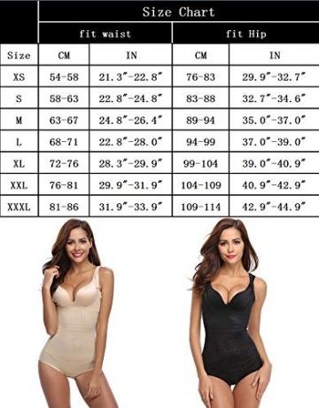Aibrou Damen Shapewear Figurformender Formende Bodys Taillenformer angenehm Shaping Bodysuit mit Haken - 7