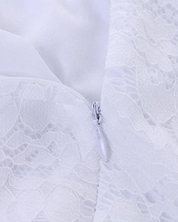 Auxo Damen Schulterfrei Jumpsuit Spitze Bodysuit Rüschen Overall Stretch Top Rückenfrei Oberteil Weiß EU 44/Etikettgröße 2XL - 6
