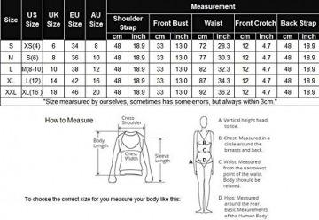 Avidlove Damen Spitze Dessous Strapsen Reizwäsche Lingerie Body Wäsche Neckholder Unterwäsche Tiefer V-Ausschnitt Negligee (S (US S(6) ,UK 8-10, AU 10), A-Schwarz) - 7
