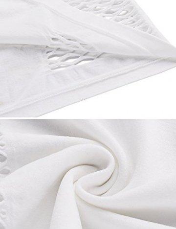 Avidlove Lingerie Dessous Frauen Mesh Sexy Hollow Out Negligee Babydoll Wäsche Netzs Flexibel Free Size Mini Silm Kleid, Weiß, Einheitsgröße - 6
