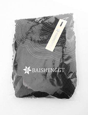 BaiShengGT Damen Boho Rückenfrei Spitze Bikini Cover Up Strandkleid Sommerkleid Schwarz One Size passt S-M - 4