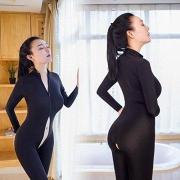 BeautyTop Damen Dessous, Frauen Dessous sexy erotik ouvert Dessous Lange Ärmel nachtwäsche sexy Versuchung Nightgown Unterwäsche Rassiges Reißverschluss Pyjama Bodysuit Overall Dessous - 3