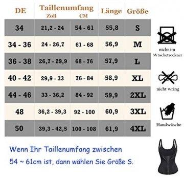 Bingrong Damen figurformend Unterbrustkorsett Bauchweg Shape-Top stark formend Körperformer Unterbrust Mieder verstellbar Oberteil Body, Hautfarben, 3XL - 7