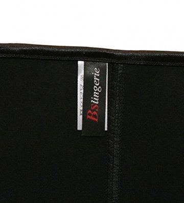 Bslingerie Kunstleder Reißverschluss Bustier Korsett Corsage (L, schwarz) - 2