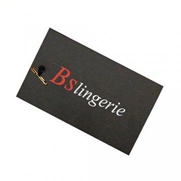Bslingerie Kunstleder Reißverschluss Bustier Korsett Corsage (L, schwarz) - 3