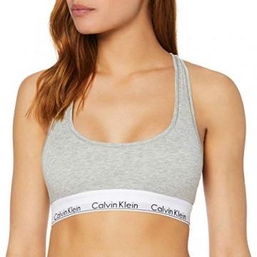 Calvin Klein Damen Bustier MODERN - BRALETTE, Einfarbig, Grau (GREY HEATHER 020), L - 1