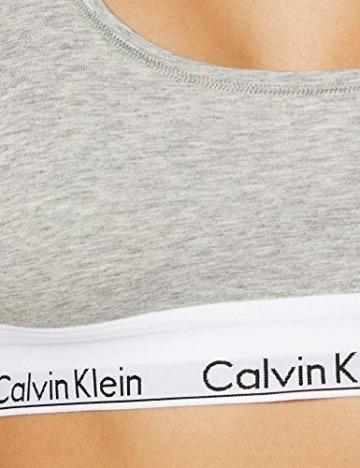 Calvin Klein Damen Bustier MODERN - BRALETTE, Einfarbig, Grau (GREY HEATHER 020), L - 7