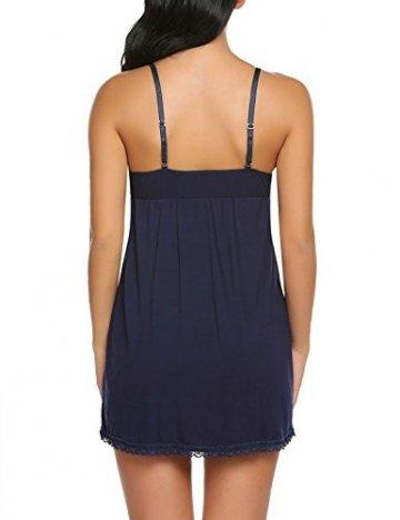 Damen Reizwäsche Nachtkleid Sexy Negligee Sommer Nachtwäsche Nachthemd Lingerie Träger Kleid Spitze Dekor Dessous Set - 7