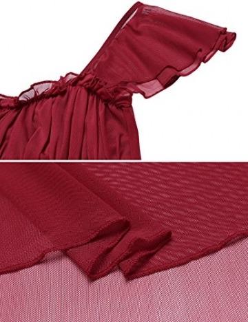 Damen Sexy Spitze Negligee Reizwäsche Babydoll Nachtwäsche Transparent Rückenfrei Lingerie Kleid Nachtkleid Nachthemd Dessous Set Sleepwear - 6