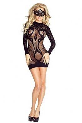 Damen Transparent Negligee Dessous Nacht Wäsche Babydoll Sleepwear schwarzes Netz-Kleid PR4710 von Provocative - 1