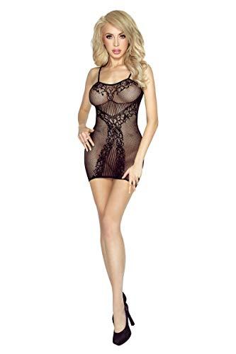 Damen Transparent Negligee Dessous Nacht Wäsche Babydoll Sleepwear schwarzes Netz-Kleid PR4954 S-L von Provocative - 1