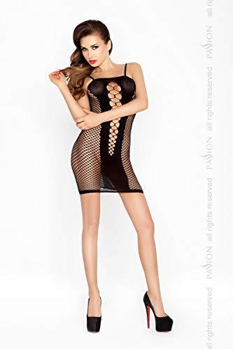 Damen Transparent Negligee Dessous Nacht Wäsche Babydoll Sleepwear schwarzes Netzkleid BS027 von Passion - 1
