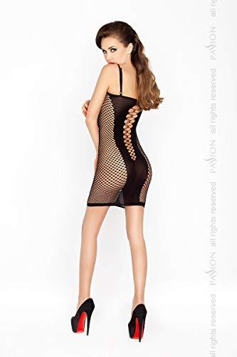 Damen Transparent Negligee Dessous Nacht Wäsche Babydoll Sleepwear schwarzes Netzkleid BS027 von Passion - 2