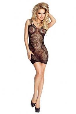 Damen Transparent Negligee Dessous Nacht Wäsche Babydoll Sleepwear schwarzes Netz-Kleid PR4702 von Provocative - 1