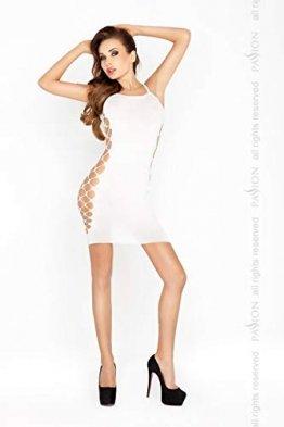 Damen Transparent Negligee Dessous Nacht Wäsche Babydoll Sleepwear weißes Minikleid BS026 von Passion - 1