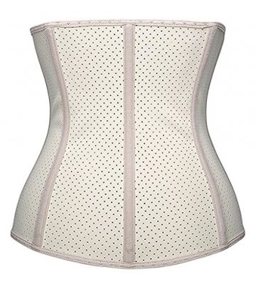 DeepTwist Damen Korsett Latex Training Sport Corsage Breathable Corset Waist Shaper,UK-SZ11533-Skin-3XL - 2