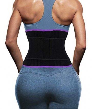 DeepTwist Sport Korsett Belt, Waist Trainer Taillengürtel Unterbrust Corsage Verstellbar Taillenmieder Gürtel für Damen/Männer,UK-DT8010-Purple-M - 2