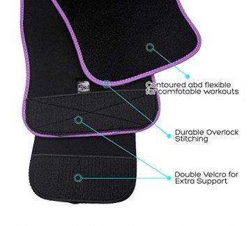 DeepTwist Sport Korsett Belt, Waist Trainer Taillengürtel Unterbrust Corsage Verstellbar Taillenmieder Gürtel für Damen/Männer,UK-DT8010-Purple-M - 3