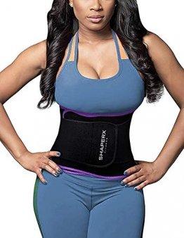 DeepTwist Sport Korsett Belt, Waist Trainer Taillengürtel Unterbrust Corsage Verstellbar Taillenmieder Gürtel für Damen/Männer,UK-DT8010-Purple-M - 1