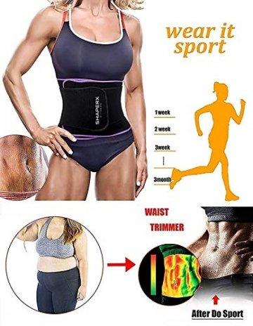 DeepTwist Sport Korsett Belt, Waist Trainer Taillengürtel Unterbrust Corsage Verstellbar Taillenmieder Gürtel für Damen/Männer,UK-DT8010-Purple-M - 5
