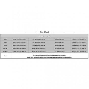 ❤️LANWINY Damen Reizwäsche Spitzen Teddy Unterwäsche Strapsen Negligee Nachtwäsche Nachthemd V-Ausschnitt Lingerie Transparente Babydoll mit Strumpfhaltergürtel-Dessous - 6