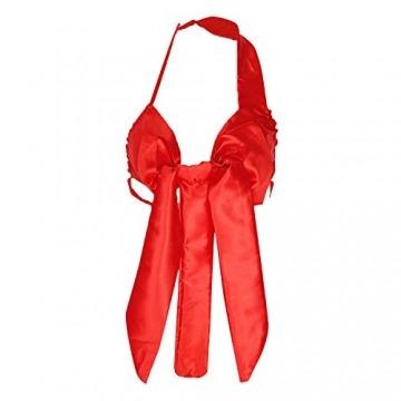 Eleery Reizwäsche Nachtwäsche Kostüm Uniform Lingerie Bandage Spitze Babydolls (Rot) - 2