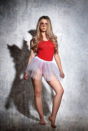 Evoni Damenbody Größen | Damen Overall Bodysuit mit Rundhals | breite Träger | Verschluß-Haken | Unterzieh-Body mit optimaler Passform | sportlicher Damen-Body, Rot, M - 5