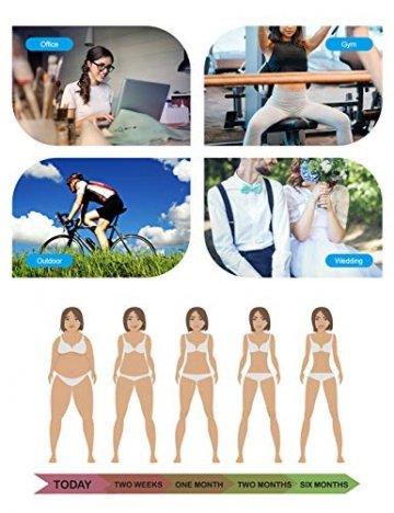 FeelinGirl Damen Latex Vollbrust Korsett Shaper Sport Korsage M Schwarz - 6