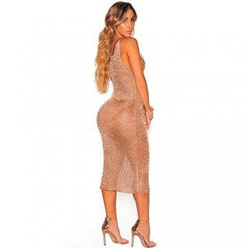 Frecoccialo Strandponcho Damen Reizvolles Tranparent Strandkleid Figurbetont Netzkleid Sexy Bikini Cover Up Badeanzug Bedecken - 2