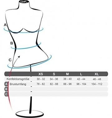 Gatta Body T-Shirt - eleganter kurzarm Body mit tiefem Rundhals Ausschnitt hoher Tragekomfort ohne Seitennähte - Größe XL - Schwarz - 2