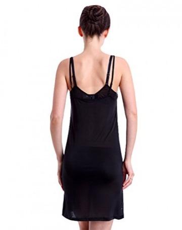 Hoerev Frauen reine natürliche Maulbeereseide Sleepwear voller Slip Chemise - 6