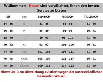 Keven Damen Babydoll Dessous mit Große Größen Sleepwear Body Bügel Nachthemd Spitze Lingerie (EU 44-46 / Tag XXL, Schwarz) - 7