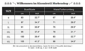 Kinsmirat Damen Reizwäsche übergröße Negligee V-Ausschnitt Overall Nachtwäsche (XXL, Schwarz) - 4