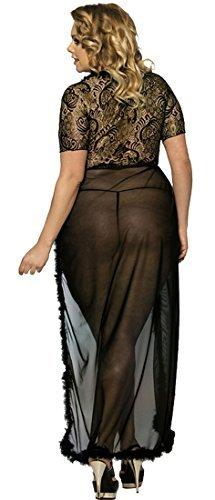 marysgift Damen Nachtkleid Sinnliche Damen Nachtwäsche Negligee Dessous Kostüm Hochzeit Cami Set Sexy Lange Erotik Bustier Seite Teilt Kleid Maxi Dress Vasual Babydoll Mesh Skirt - 2