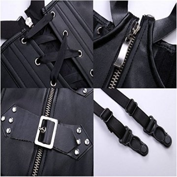 Miss Moly Steampunk Gothic Korsett Korsage Corset Clubwear Corsagen Schwarz Gr. S - 6XL - 6