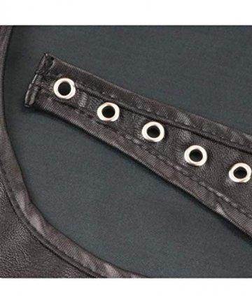 Moon Angle Neu Kommen Minirock Porno Erwachsene Geschlechtsprodukte Schwarz Leder Panty Latex Kleid Fetisch PVC Erotische Dessous Sexy Kostüme Frauen (Schwarz, S) - 5