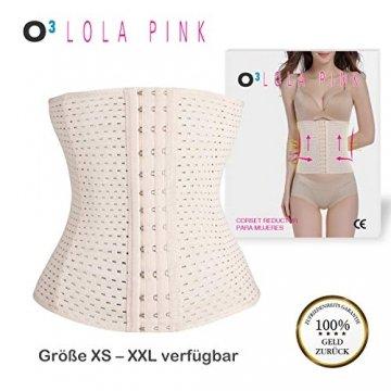 O³ Korsett Bauch Weg Damen // Figurformende Unterbrust Korsage in Größe XS - XXL Schwarz oder Nude // Body Shape Belt for Women - Waist Corset (Nude XL) - 2