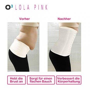 O³ Korsett Bauch Weg Damen // Figurformende Unterbrust Korsage in Größe XS - XXL Schwarz oder Nude // Body Shape Belt for Women - Waist Corset (Nude XL) - 5