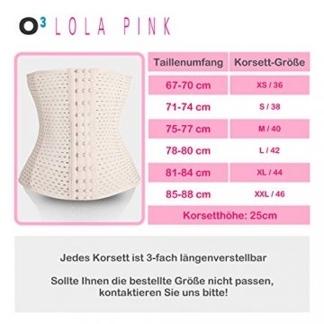 O³ Korsett Bauch Weg Damen // Figurformende Unterbrust Korsage in Größe XS - XXL Schwarz oder Nude // Body Shape Belt for Women - Waist Corset (Nude XL) - 6