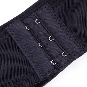 ROSENICE Rücken Korrektor einstellbare Haltungsgurt Damen Büstenhebe Rückenbandage Rückenstütze Größe XL (schwarz) - 2