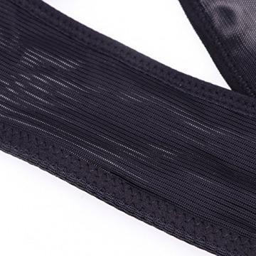 ROSENICE Rücken Korrektor einstellbare Haltungsgurt Damen Büstenhebe Rückenbandage Rückenstütze Größe XL (schwarz) - 4
