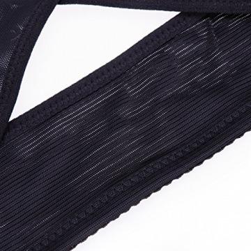 ROSENICE Rücken Korrektor einstellbare Haltungsgurt Damen Büstenhebe Rückenbandage Rückenstütze Größe XL (schwarz) - 7