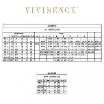 Vivisence Eve 1012 Push-Up BH Dame Transparent Rückenfrei Abnehmbar Musterlos EU, Beige,75E - 6