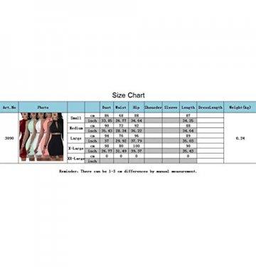 YOJDTD Kleider Damenkleider Langarmkleider Netzkleider Perlkleider, Weiß, XL - 4