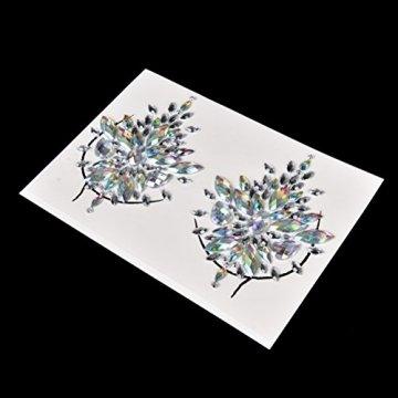1 Paar Körper Edelstein Aufkleber Zubehör Bh Brust Pasties Kristall Bh Aufkleber frauen Zubehör Für Dating Party Festival Hochzeiten 18,5 * 13 cm - 2