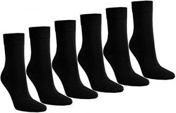 6 PAAR Damen Luxus-Socken Strümpfe Söckchen ohne Gummi Baumwolle mit Elasthan, Schwarz, 39 - 42 - 1