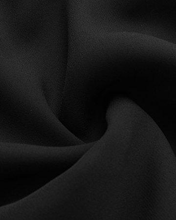 ACHIOOWA Tops Damen Neckholder Ärmellos Rückfrei V Ausschnitt Loose Schlinge Oberteile Bluse Sexy Shirts Schwarz L - 6