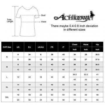 ACHIOOWA Tops Damen Neckholder Ärmellos Rückfrei V Ausschnitt Loose Schlinge Oberteile Bluse Sexy Shirts Schwarz L - 7