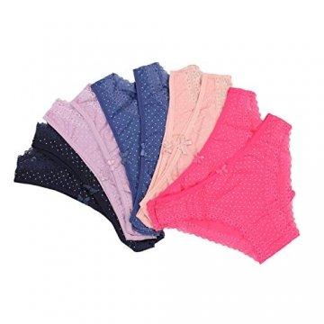 Alkato Damen Slips mit Punkten und Spitze 10er Pack, Farbe: Farbenmix 1, Größe: M - 7